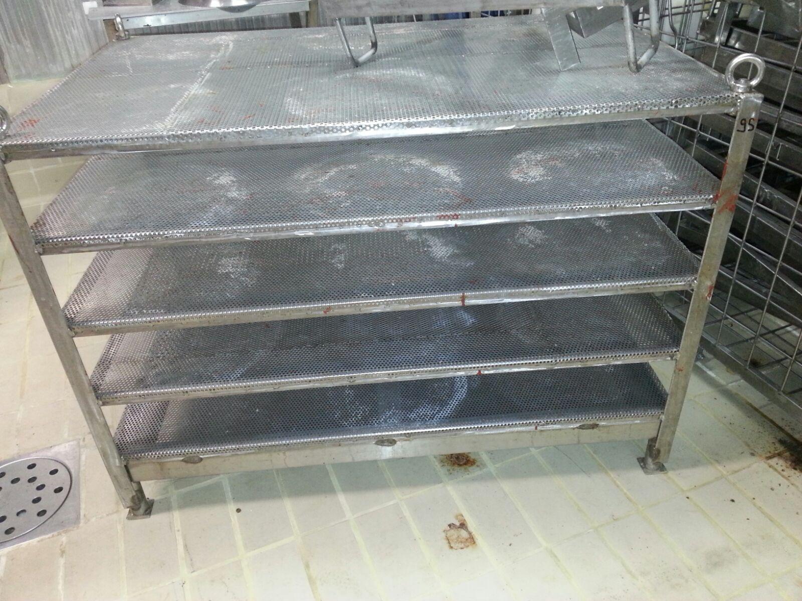 N.1104 GABBIE INOX PER IMMERSIONE IN SALAMOIA USATE